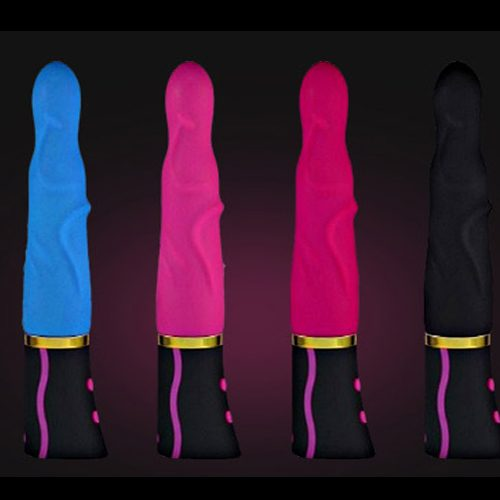 Silicone multispeed rechargable vibrator - various colours available