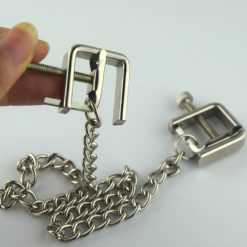 Heavy Duty Metal Nipple Clamps with Winder and joining Chain