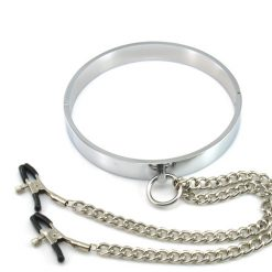 Polished Aluminum Neck Collar and Nipple Clamps