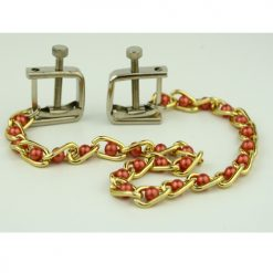 Metal Nipple Clamps with Pearl Chainlink