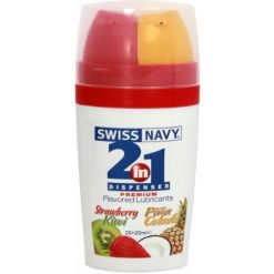 SWISS NAVY 2 in 1 Dispenser Flavored - Strawberry Kiwi & Pina Colada 50ml