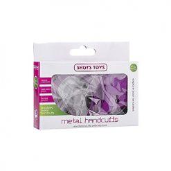 Shots Toys Purple Metal Handcuffs