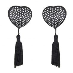 Black  Heart Shaped Pasty with tassels