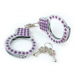 Fetish Fantasy Series Fancy Cuffs Studded With Purple Diamonds