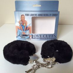 Love Cuffs Black Covered Fur