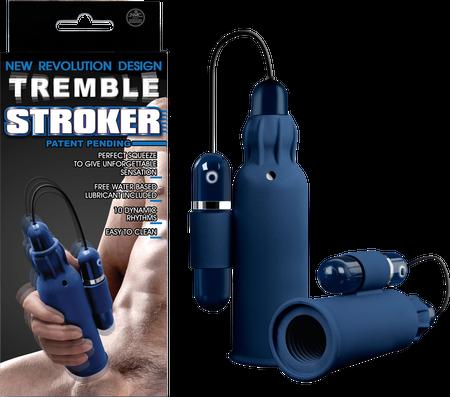 NEW Tremble Stroker - Silicone Masturbator (Blue)