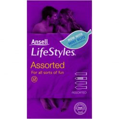 Ansell Assorted Condoms 12 pack