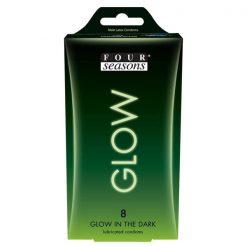 Four Seasons Glow in the Dark Condoms 8 pack