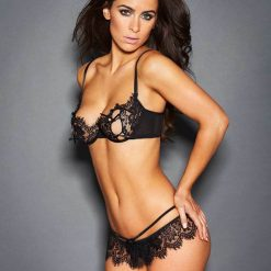 Black Lace Temptation 2pcs Bralette Lingerie Set