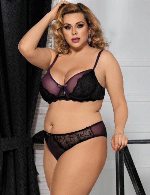 Sexy Purple Naughty Bra Set